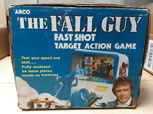 1982 Arco Vintage The Fall Guy Toy Fast Short Target Action Game Lee Majors
