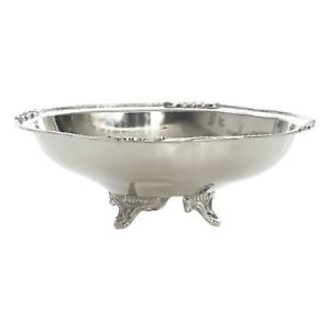 Albion Nickel Footed Oval Bowl