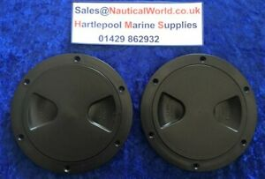 2 Pack, Round Black Access Inspection Hatch Cover For Boats