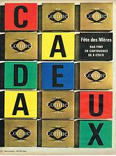 PUBLICITE ADVERTISING 124  1963  CORNUEL   bas & collants boites cadeaux
