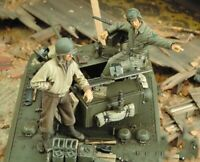 1/35 Resin WWII US Tank Crew 2 Soldiers unpainted unassembled CK083