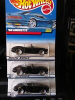 Hot Wheels 1999 '58 CORVETTES. Lot Of 3 MINT CARDS