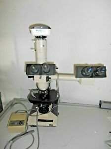 Olympus Dual View BH2 Microscope 4 Objectives great condition