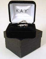 Kay Jewelers 1/5 Ct Solitaire Enhancer Diamond Ring 14k White Gold Size 7 New
