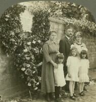 Family Standing Before the Wall in Dinant Where Germans Shot Many Loyal Belgians