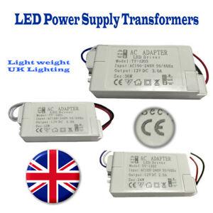 LED Driver Adapter AC 220 -240V To DC 12V Transformer Power Supply LED Strip UK
