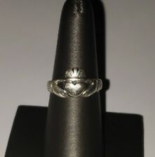 VINTAGE STERLING SILVER CLADDAGH RING SIZE 7.75
