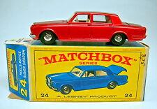 Matchbox RW 24C Rolls Royce met. rot  rare 1. Box mit blauem Modell