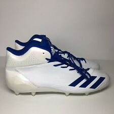free shipping bb3ac 3fae9 Adidas Adizero 5 Star 6.0 Size 18 White Blue Soccer Futbol Cleats Messi