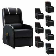 vidaXL Massagesessel Heizung Kunstleder Relaxsessel TV Sessel mehrere Auswahl