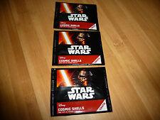 3 Star Wars Disney Cosmic shells Neu!