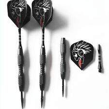 3pcs/Set Tungsten Steel Needle Tip Darts With Dart Flights Indoor Sports Black