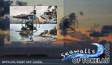 Tokelau 2018 FDC Seawalls 4v M/S Cover Tourism Landscapes Palm Trees Stamps