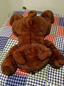"BIG Plush Brown Lay Down Bear 27"" Purr-Fection MJC International Excellent"