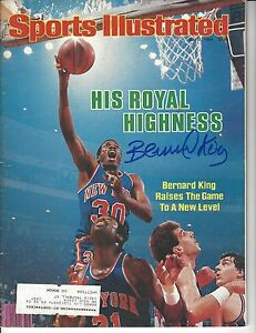Bernard King Signed Auto New York Knicks Sports Illustrated JSA COA