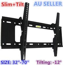 """H600 Universal Slim Tilt LCD LED PLASMA FLAT TV Wall Mount Bracket for 32"""" - 50"""""""