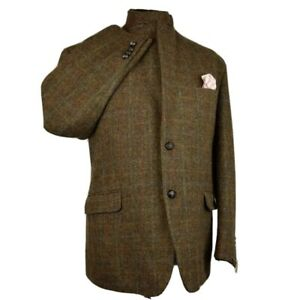 Harris Tweed Tailored Country Brown Blazer Jacket 46S #163 IMMACULATE GARMENT