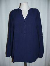 Esprit Moderno Blusa Slip Camiseta Blusa Blusa Puntitos 38 Azul Oscuro Azul