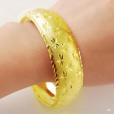 24K Gold Plated Babysbreath Women Men Bangle Bracelet GB001