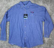 VERIZON EMPLOYEE Men's L Long Sleeve Chambry Denim Shirt - Tri Mountain - NWT