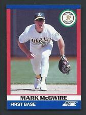 Mark McGwire 1991 Score Super Star Card #39; NM-Mint; Oakland Athletics