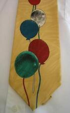 Baloons Yellow Necktie 100% silk by Je Suis