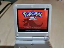 Genuine Pearl White GBA SP Refurb IPS V2 Backlit LCD Gameboy Advance Console