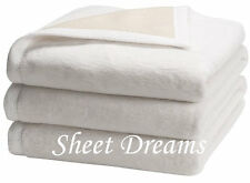Peacock Alley 100% Egyptian Cotton Plush Favorite All Seasons QUEEN Blanket New