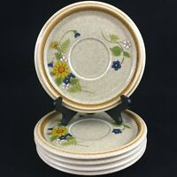 Set of 5 VTG Saucer Plates by Mikasa Stone Manor Garden Bouquet Floral Japan