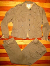 VTG 1980S ANN TAYLOR VENTILO BROWN FITTED JACKET HIGH WAIST PANTS LARGE 8 10