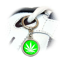 Marijuana Pot Weed Leaf - Green - Shoe Sneaker Shoelace Charm Decoration