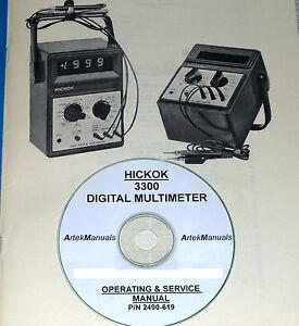 Hickok 3300 Digital Multimeter, Manual, Operating, Service + Schematics