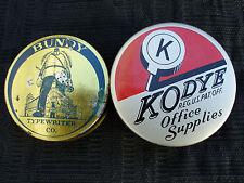 OLD VINTAGE BUNDY & KODYE TYPEWRITER RIBBON TIN LOT MINT UNUSED