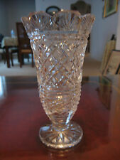 Waterford Crystal Glass Gridded Pattern Vase