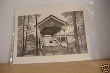 ~ROBERT'S~COVERED BRIDGE~LITHOGRAPHIC PRINT~WM ERNY~