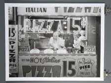 Hot Italian Pizza 15c - Nat Norman- NYC 1955 B&W Poster