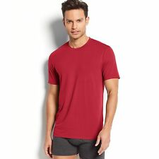$45 32 DEGREES Mens PAJAMA S/S CREW NECK T SHIRT Red Solid LOUNGE SLEEPWEAR M