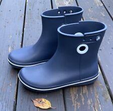 Women's 7 CROCS JAUNT Navy Blue Shorty Rain Boots EXCELLENT