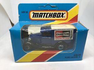 Matchbox MB 3B Ford Model A Champion Spark Plug Truck - 1981