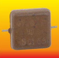4700 pF 500 V 10% LOT OF 4 RUSSIAN MILITARY SILVER-MICA CAPACITORS KSO-5W КСО-5В