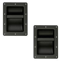 2 Poignées Pour Enceintes qualité METALLIQUE Couleur Noire 220 x 160 mm