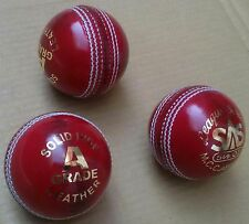 1x Test Crown Red Cricket Ball Leather Entirely Stitched 5.5 oz MCC Approved