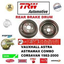Para Opel Astra Astramax Conjunto Corsavan 1982-2000 1x Tambor de Freno Trasero