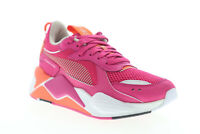 Puma Rs-X Toys 37075010 Womens Pink Mesh Lace Up Lace Up Low Top Sneakers Shoes