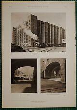 1920's ARCHITECTURE PRINT U.S ARMY SUPPLY BASE BROOKLYN CASS GILBERT WAREHOUSE