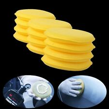 12pcs Hand Soft Wax Yellow Sponge Pad/Buffer for Car Detailing Care Wash Clean