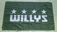 New listing Willys Jeep Flag 3' X 5 Banner Indoor / Outdoor Racing Flag 319