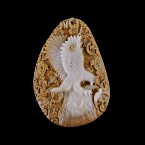 Carved Eagle freeform Pendant Bead GH400096