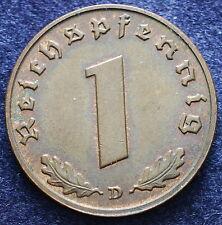 1938 Germany   1 Reichspfennig  D