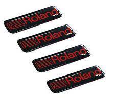 4 Aufkleber 3D Roland Stickers Audio Musik Instrumente Piano Gitarre Drums Bass